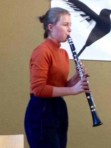 Mamma til klarinettelev Gitte Hebo
