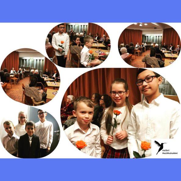 piano barn fra 7 år spiller for eldre