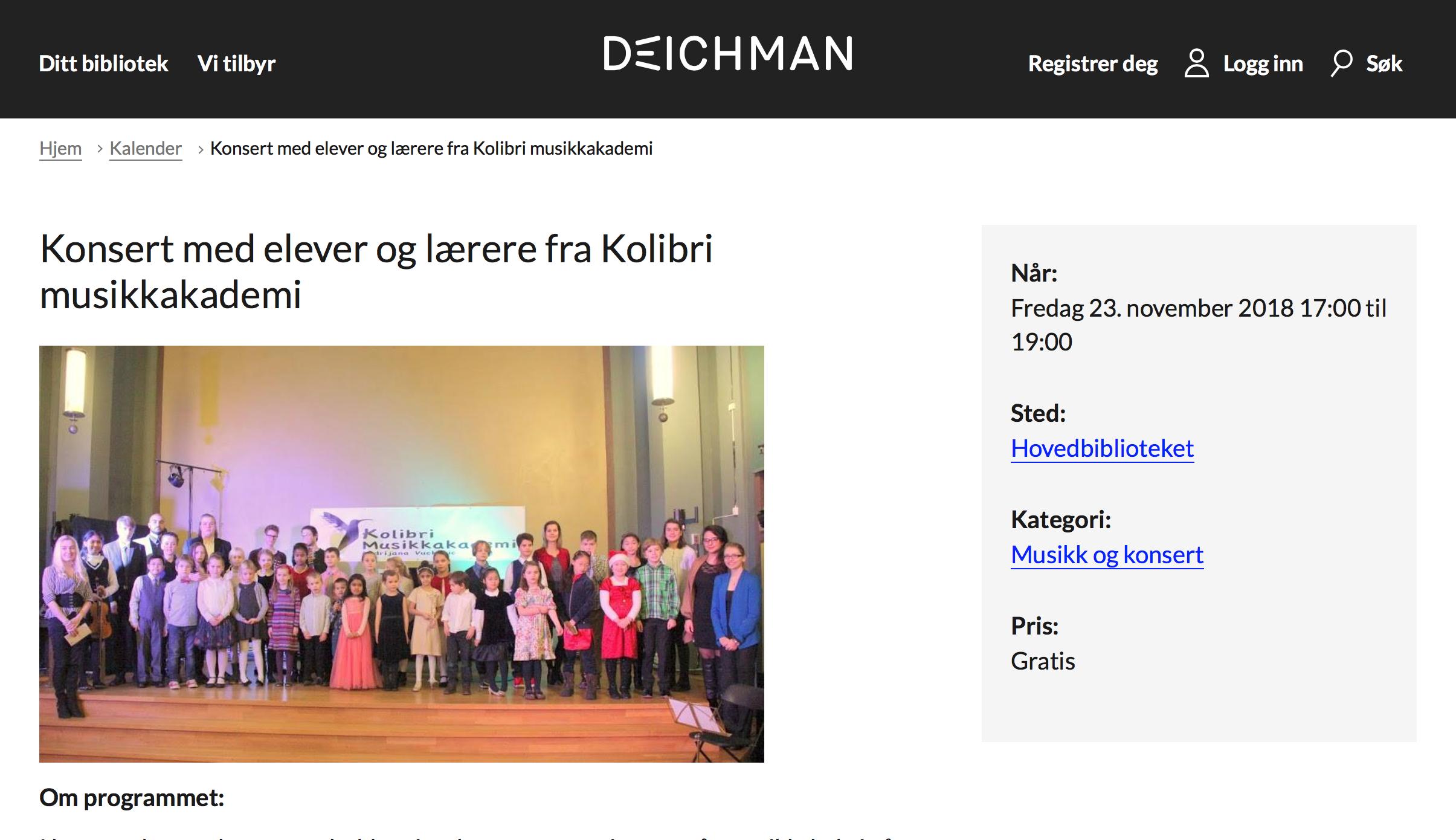 Kolibri musikkskole konsert, kulturskole Oslo Stavanger pianolærer musikktimer pianoundervisning sang elever spiller barna spiller lær å spille