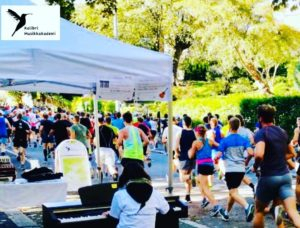 Oslo Maraton spille piano Oslo løypa musikkskolen