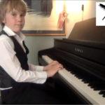 Andreas spiller piano 7 år
