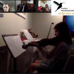 Randi spiller fiolin